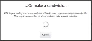 KDP Or make a sandwich